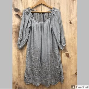 NWT Giulia dress size small, grey with embroidery